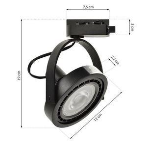 Černé pásové světlo Lugar Black 1x Ar111 Gu10 small 5