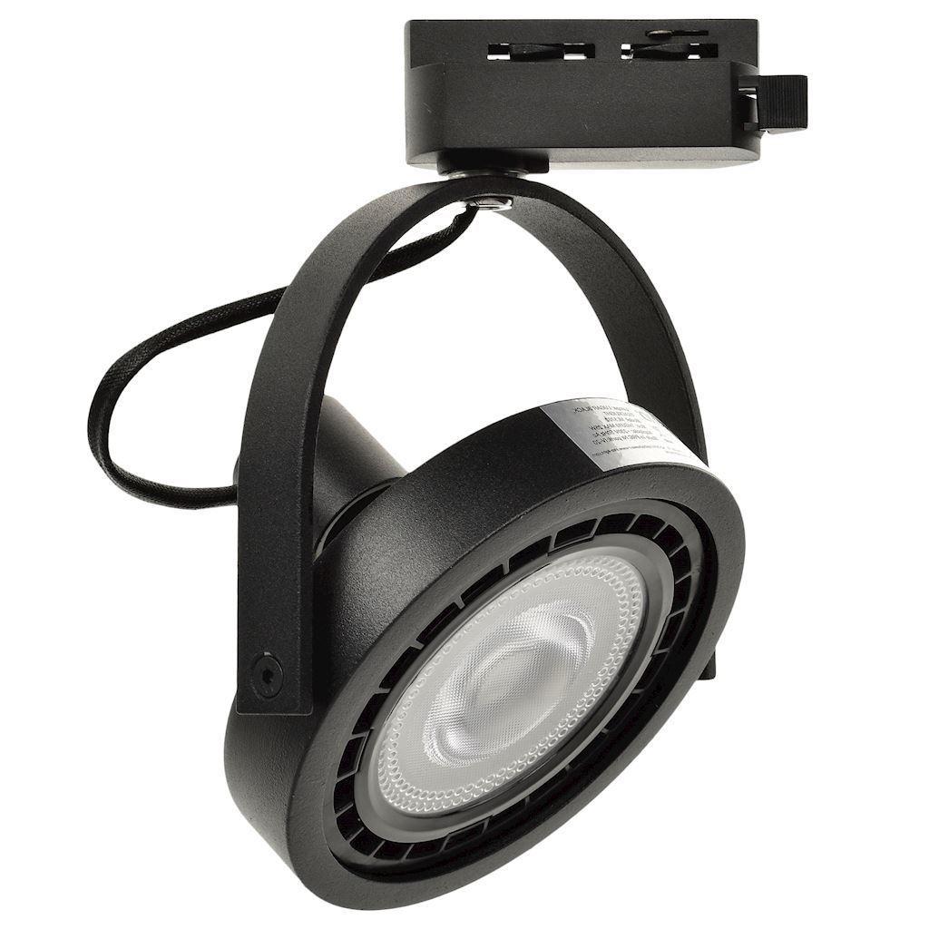 Černé pásové světlo Lugar Black 1x Ar111 Gu10
