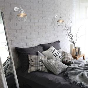 Bílá nástěnná lampa Cliff White 1x E27 small 1