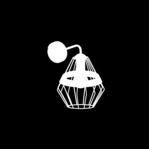Bílá nástěnná lampa Cliff White 1x E27 small 2