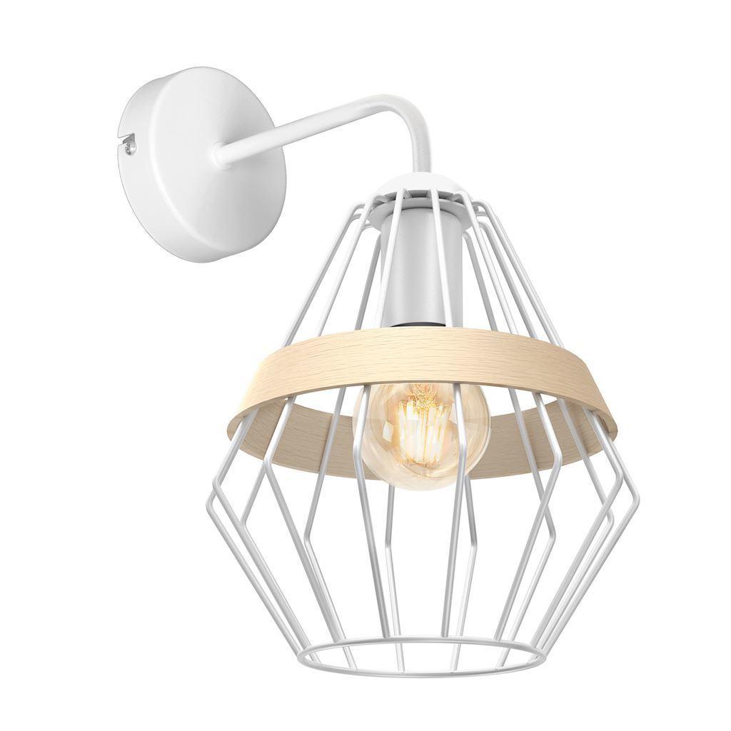 Bílá nástěnná lampa Cliff White 1x E27