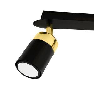 Černá stropní lampa Joker černá / zlatá 2x Gu10 small 4