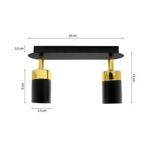 Černá stropní lampa Joker černá / zlatá 2x Gu10 small 5