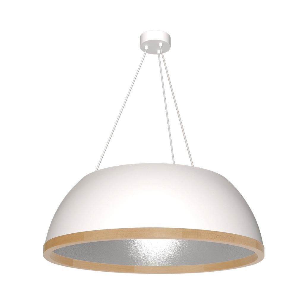 Bílá Maxim Závěsná Lampa 3x E27