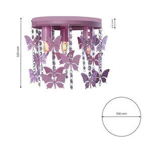 Růžová stropní lampa Angelica 3x E27 small 4