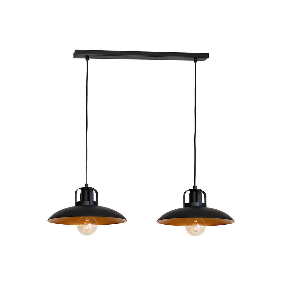 Černá závěsná lampa Felix 2x E27