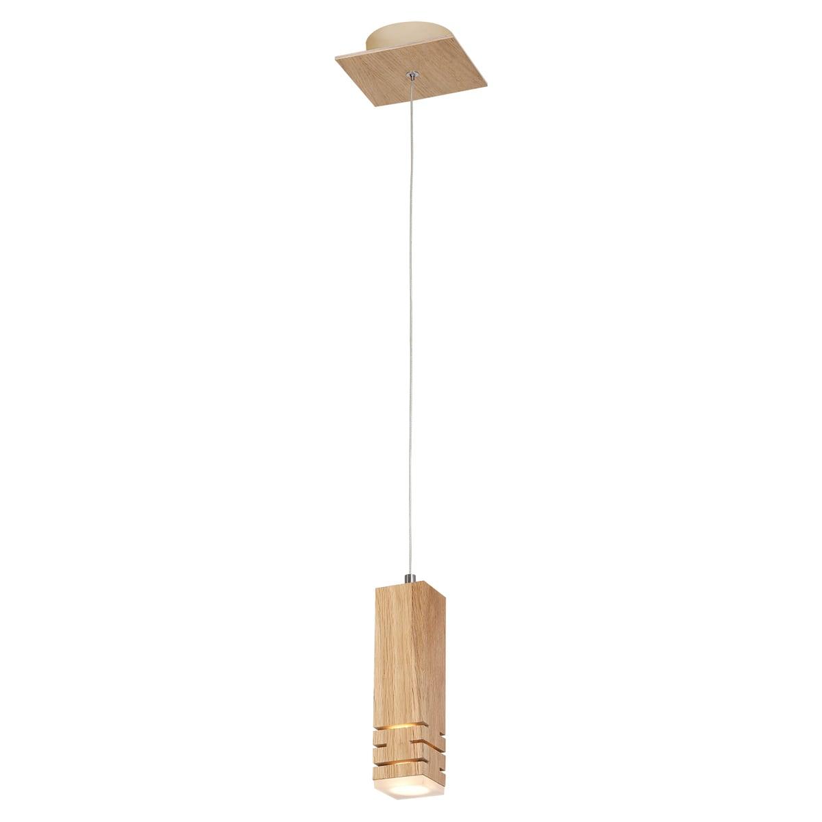 Závěsná svítilna Milagro BERGEN 574 Přírodní dřevo 5W