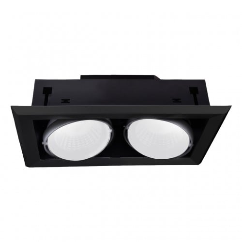 Zapuštěné svítidlo Milagro BLOCCO 475 Černá LED 2 x 7W 3000K