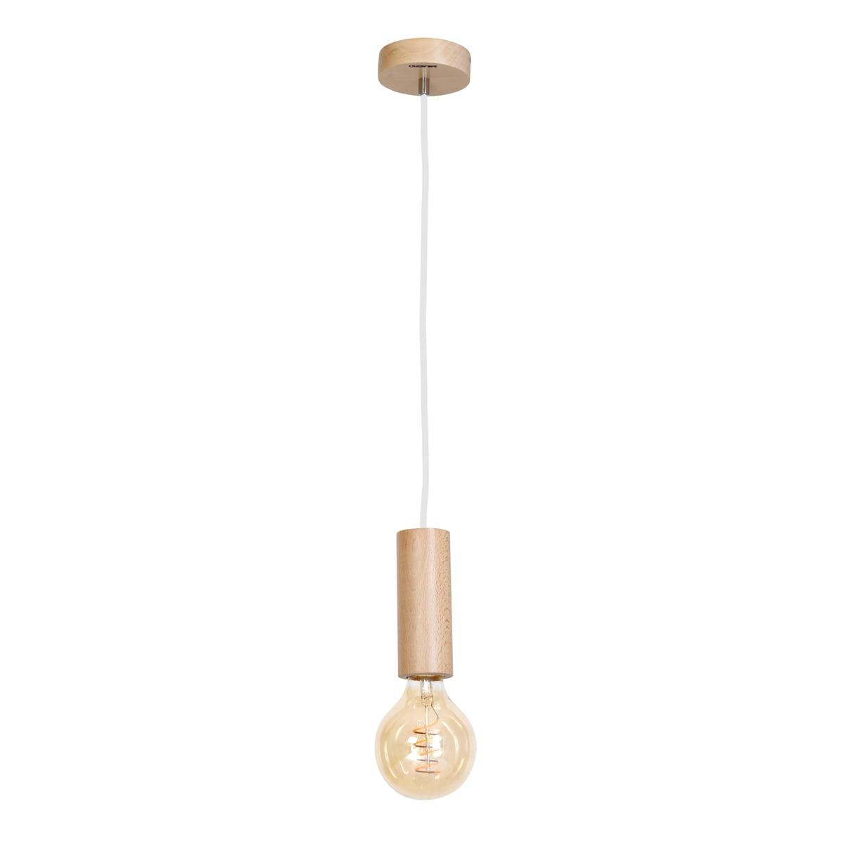 Závěsná svítilna Milagro BOSCO 611 Přírodní dřevo 1xE27 40W
