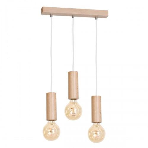 Závěsná svítilna Milagro BOSCO 613 Přírodní dřevo 3xE27 40W