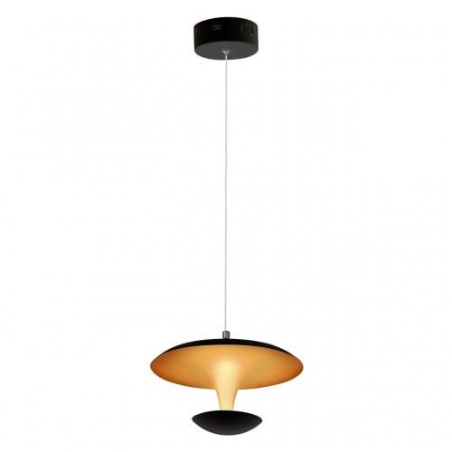 Lampa wisząca Milagro COSTA 359 Matowy czarny/Matowy złoty 12W