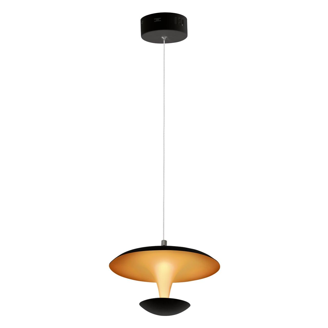 Přívěsek lampa Milagro COSTA 359 Mat černá / Matné zlato 12W