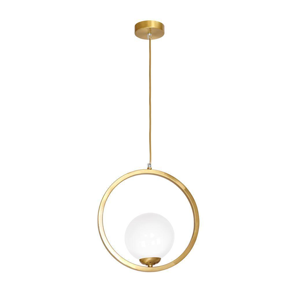 Mosazná závěsná lampa Vídeň 1x E14