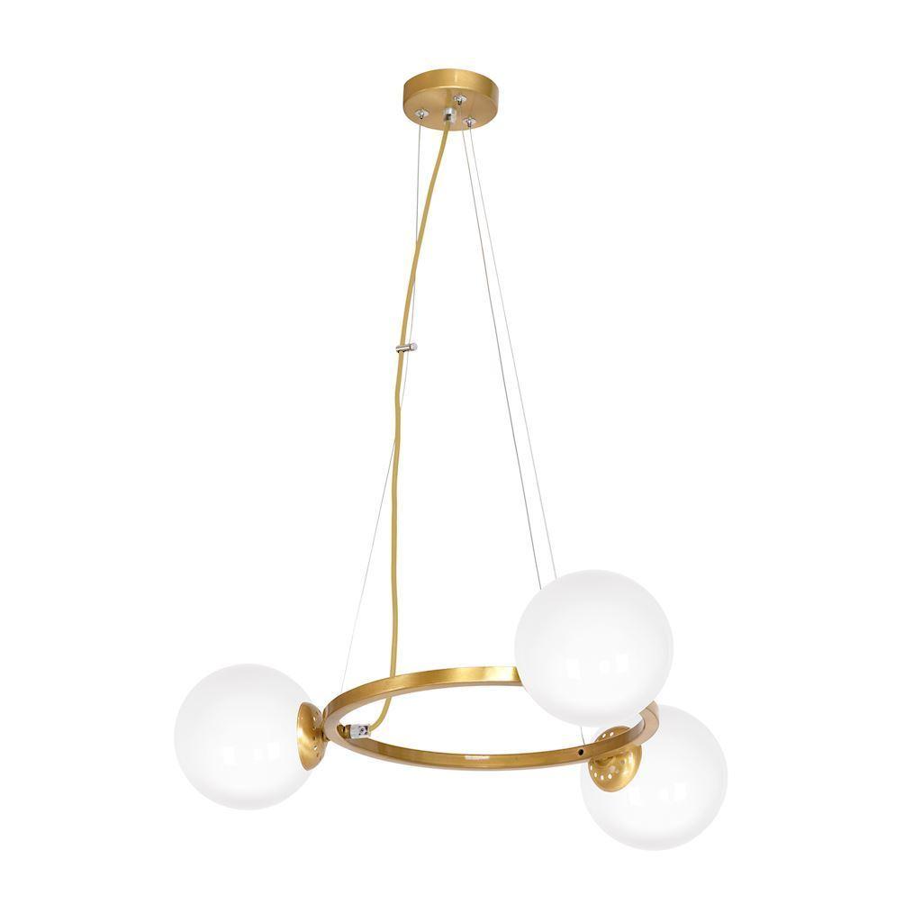 Mosazná závěsná lampa Vídeň 3x E14