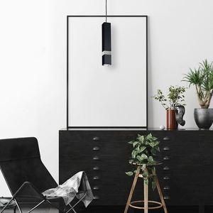 Černá závěsná lampa Vidar Black / Chrome 1x Gu10 small 7