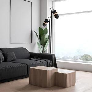 Černá stojací lampa Vidar Black 2x Gu10 small 5