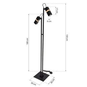 Černá stojací lampa Vidar Black 2x Gu10 small 7