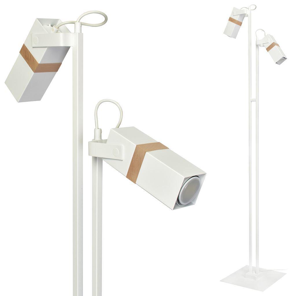 Bílá stojací lampa Vidar bílá 2x Gu10