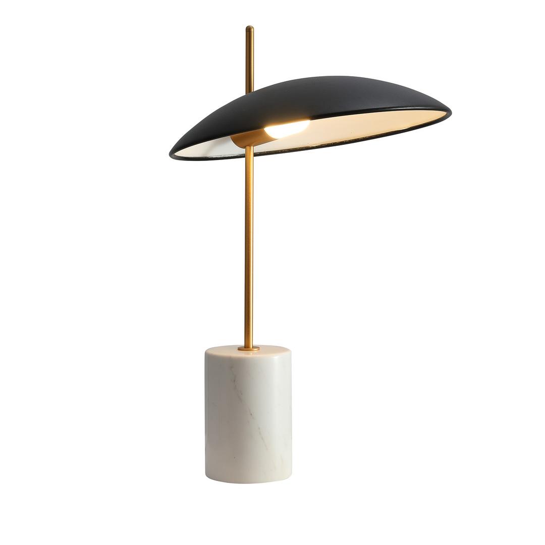 Černá stolní LED lampa Vilai