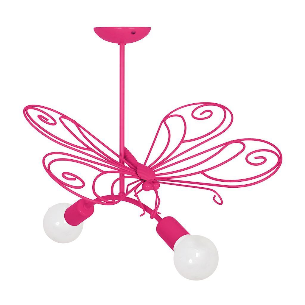 Lustr Pink Butterfly 2 Dark Pink 2x E27