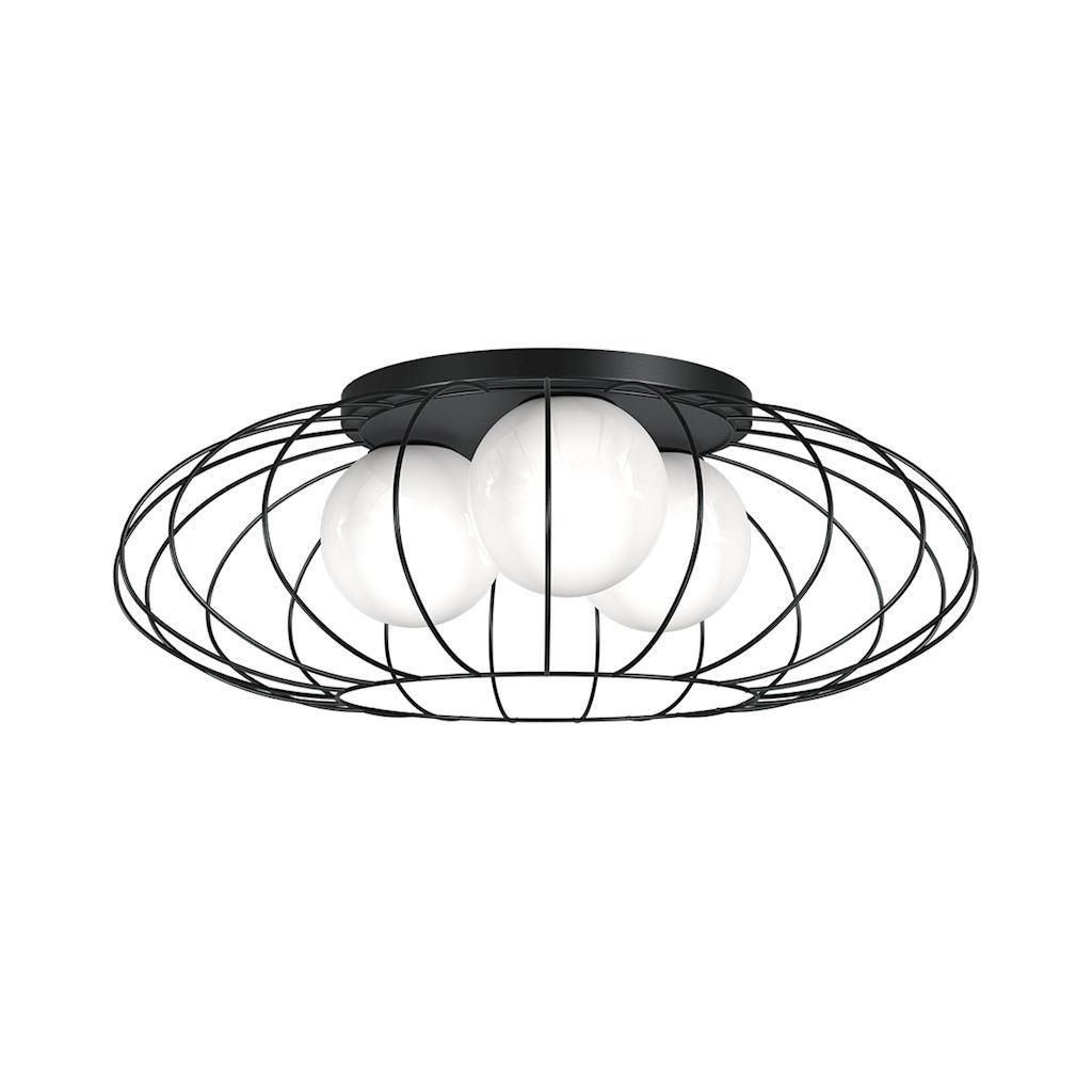 Černá stropní lampa Kronos Black 3x E14