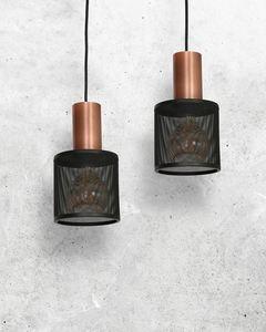 Černá závěsná lampa Ares Black 2x E27 small 1