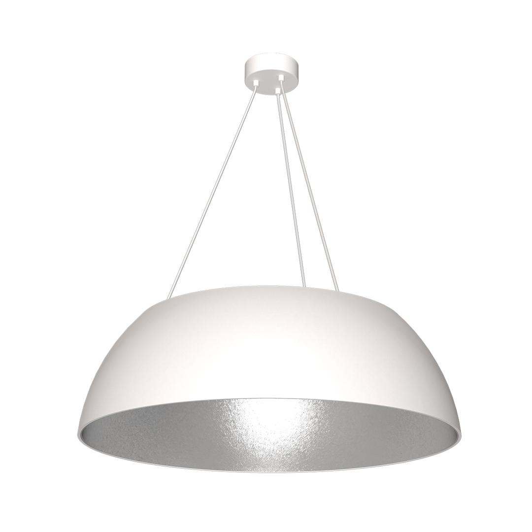 Bílá závěsná lampa Morgan 3x E27