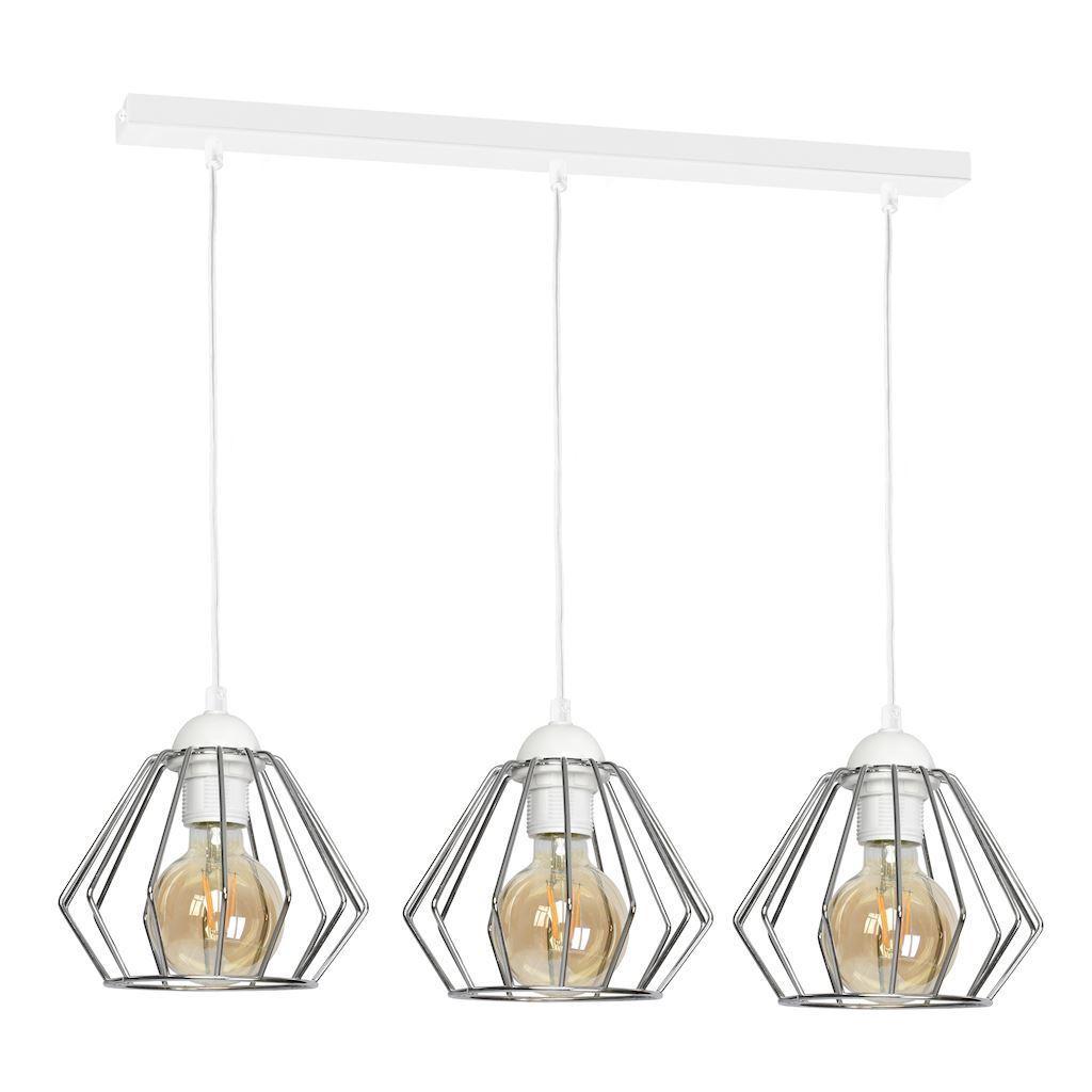 Závěsná lampa Norman White 3x E27