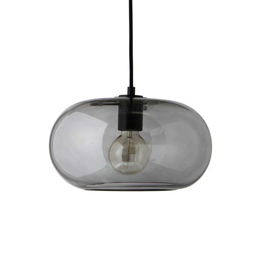 FRANDSEN závěsná lampa KOBE kouřová - sklo, kov