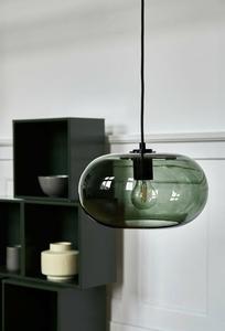 FRANDSEN závěsná lampa KOBE zelená - sklo, kov small 2