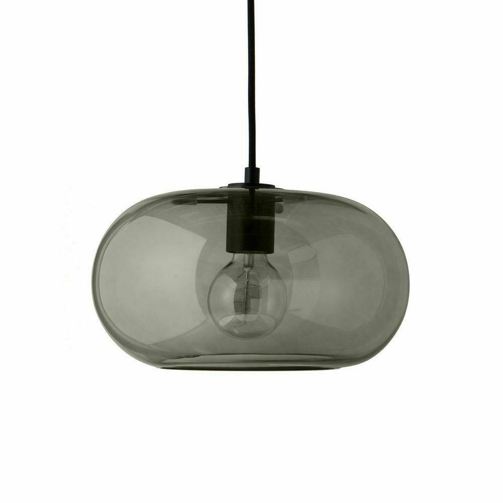 FRANDSEN závěsná lampa KOBE zelená - sklo, kov