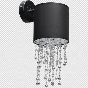 Černá nástěnná lampa Almeria Black / Chrome 1x E27 small 7