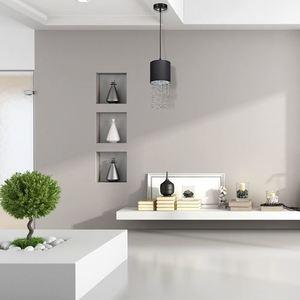 Černá závěsná lampa Almeria černá / stříbrná 1x E27 small 4
