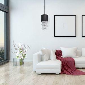 Černá závěsná lampa Almeria černá / stříbrná 1x E27 small 5