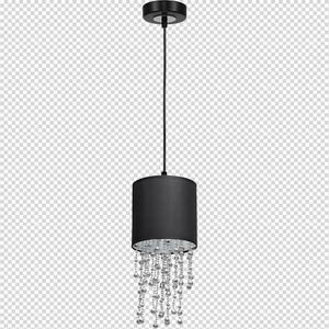 Černá závěsná lampa Almeria černá / stříbrná 1x E27 small 7