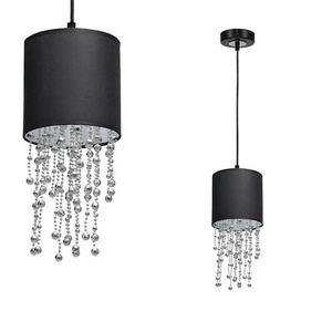 Černá závěsná lampa Almeria černá / stříbrná 1x E27 small 0