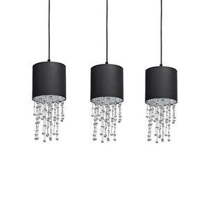 Černá závěsná lampa Almeria Black / Chrome 3x E27 small 2