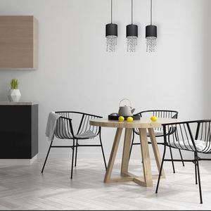 Černá závěsná lampa Almeria Black / Chrome 3x E27 small 5