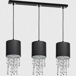 Černá závěsná lampa Almeria Black / Chrome 3x E27 small 7