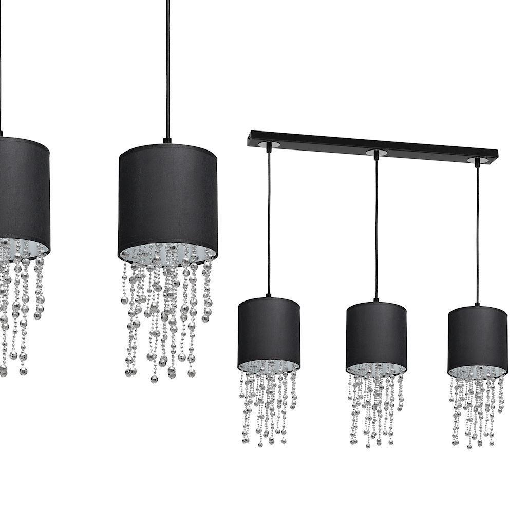 Černá závěsná lampa Almeria Black / Chrome 3x E27