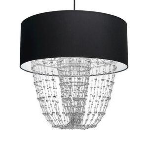 Černá závěsná lampa Almeria Black / Chrome 1x E27 small 3