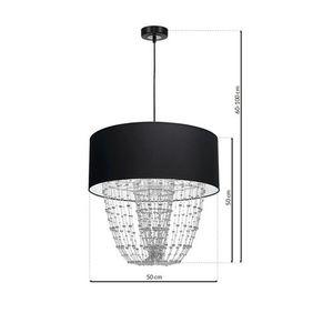 Černá závěsná lampa Almeria Black / Chrome 1x E27 small 6