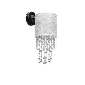 Černá nástěnná lampa Almeria Silver / Chrome 1x E27 small 2