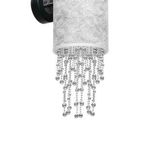 Černá nástěnná lampa Almeria Silver / Chrome 1x E27 small 3