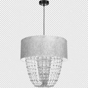 Černý závěs Lamap Almeria Silver / Chrome 1x E27 small 7