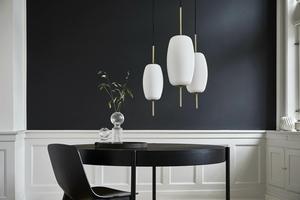 Závěsná lampa FRANDSEN SILK M - mosaz, sklo small 1
