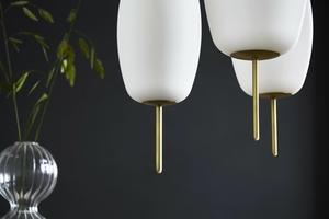 Závěsná lampa FRANDSEN SILK S - mosaz, sklo small 2