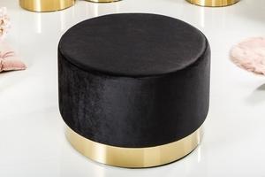 Pytlík INVICTA BAROCK VELVET WIDE černý - zlatý základ small 1