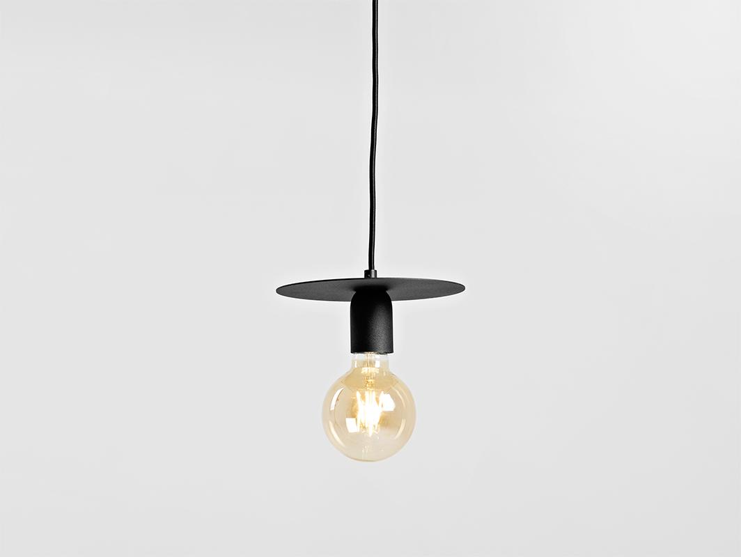 Závěsná lampa SKIVA S - černá