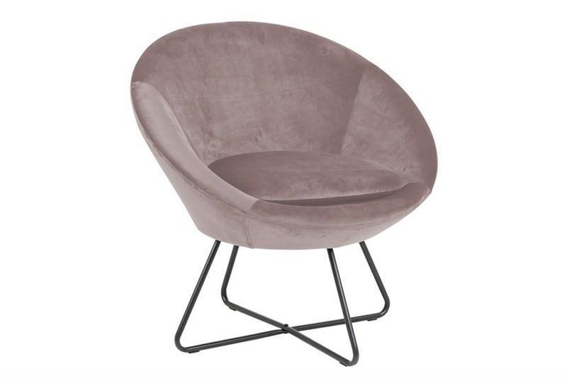 Židle ACTONA CEZAR - špinavě růžová